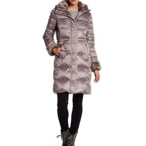 DVF poppy coat, taupe